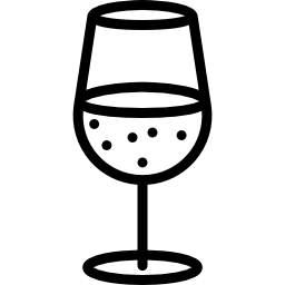 icon of a glass of wine.